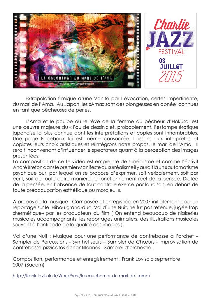 Art vidéo - Charlie Jazz Festival - Lovisolo
