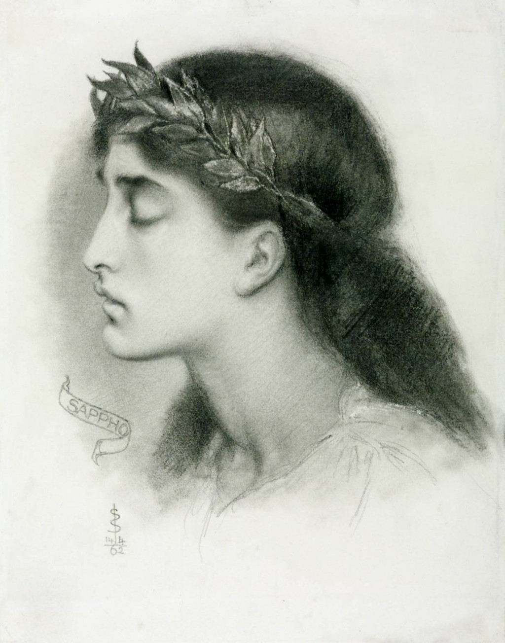 Study of Sappho 1862 Simeon Solomon 1840-1905 Purchased 1980 http://www.tate.org.uk/art/work/T03104