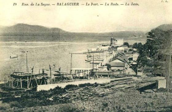 Vue des Chantiers Maritimes du Midi dans l'anse de Balaguier