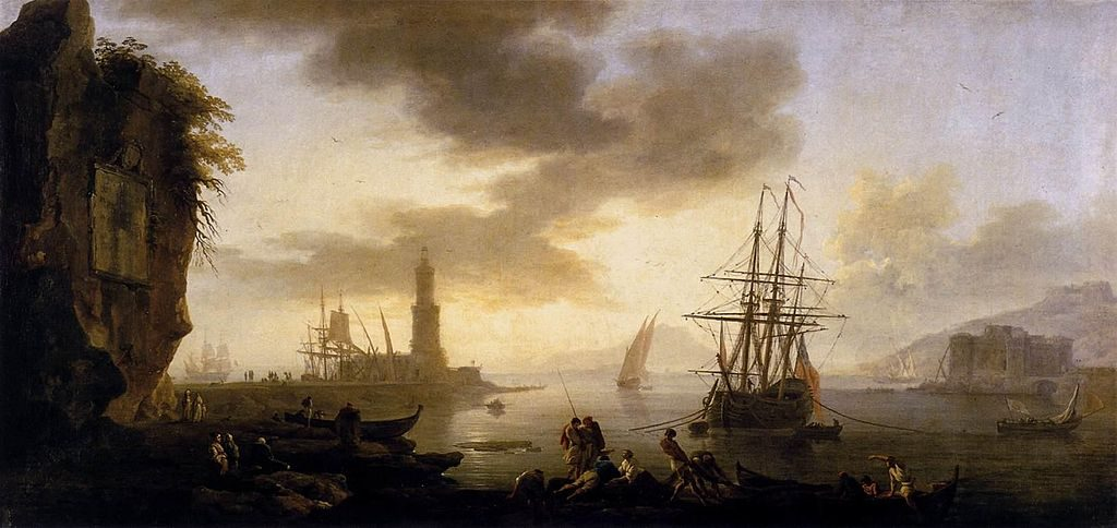 Joseph-Vernet-Naples-Seascape: Calm - Corinne ou l'Italie