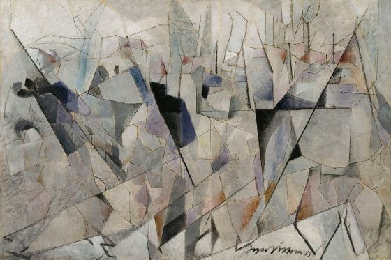 Jacques Villon (Gaston Duchamp, dit) (1875-1963) Soldats en marche, 1913