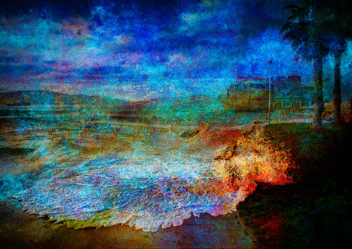 Une vague devant le fort Saint Louis à Toulon
