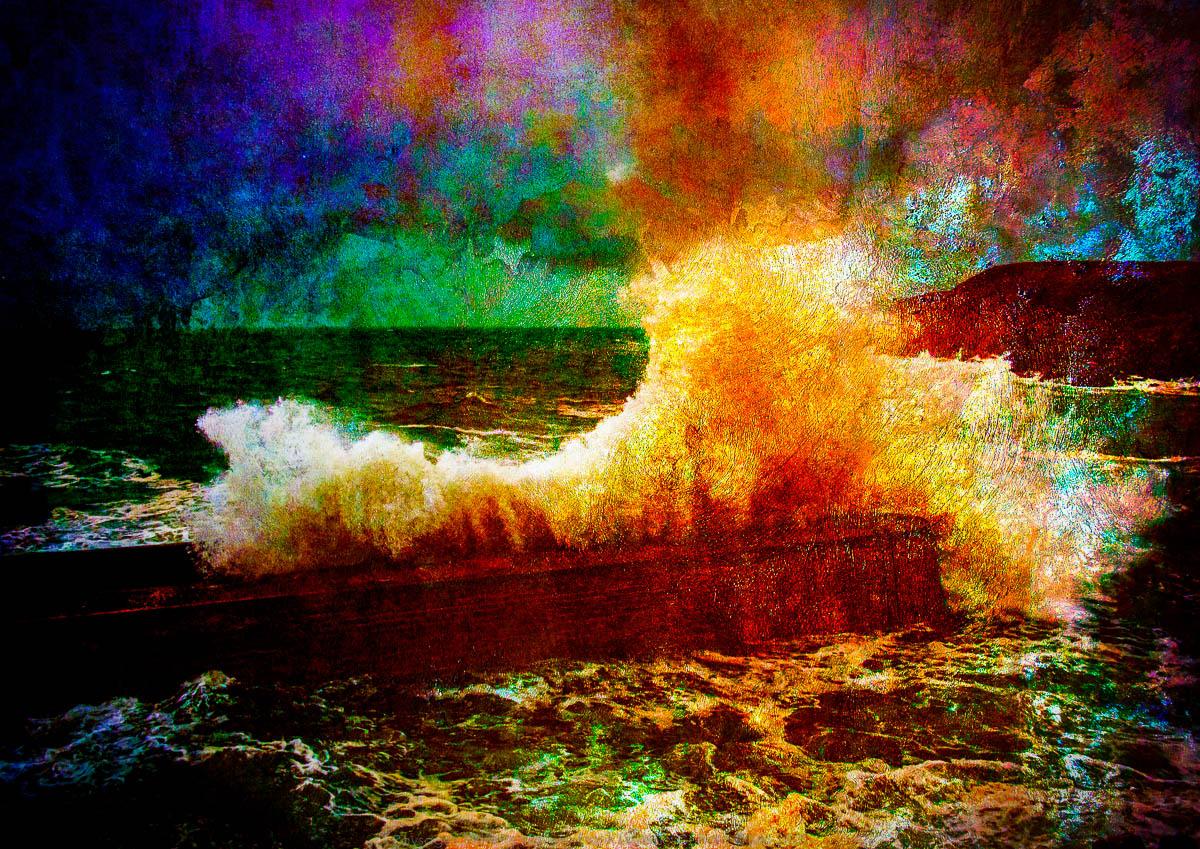 Une vague à Pors Loubous