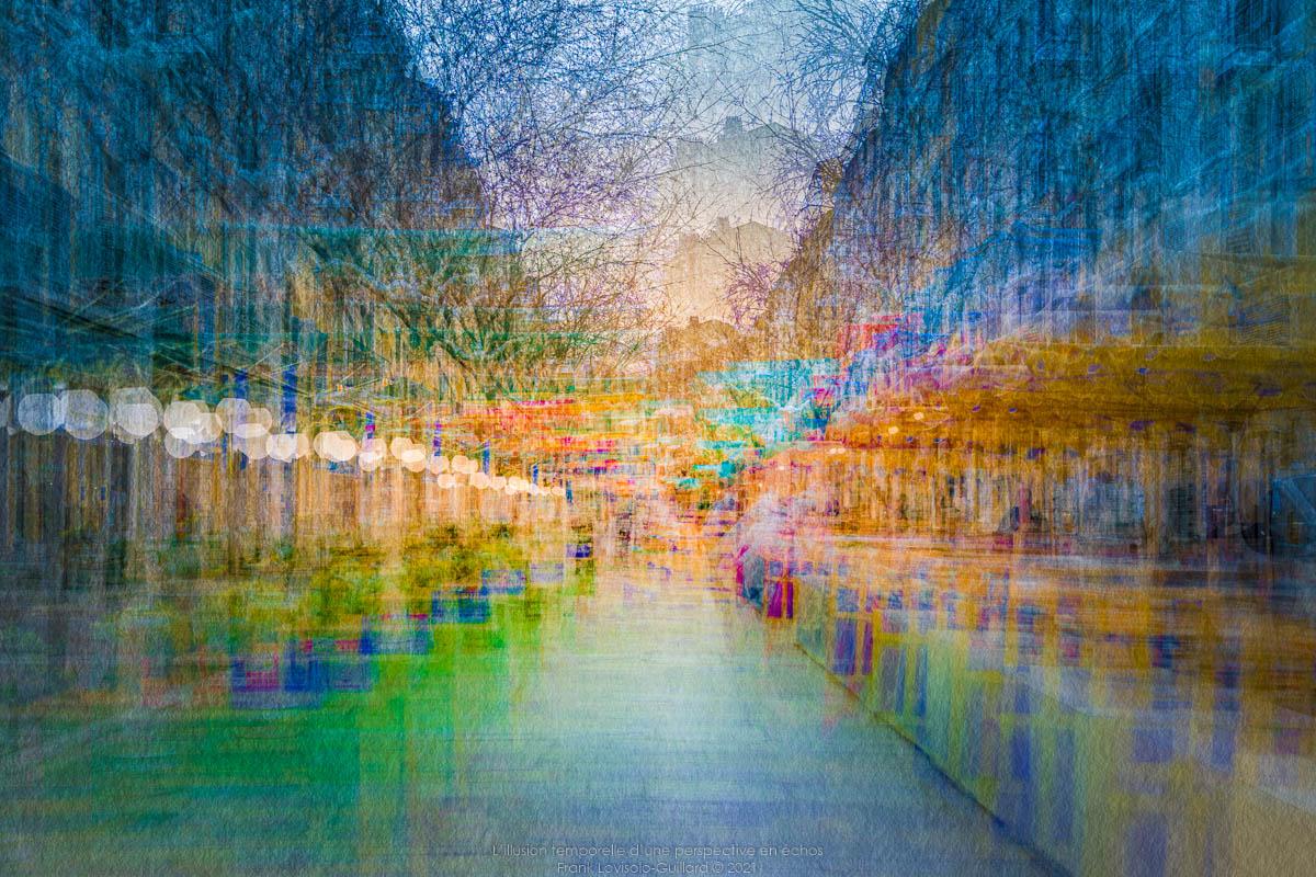 L'illusion temporelle d'une perspective en échos