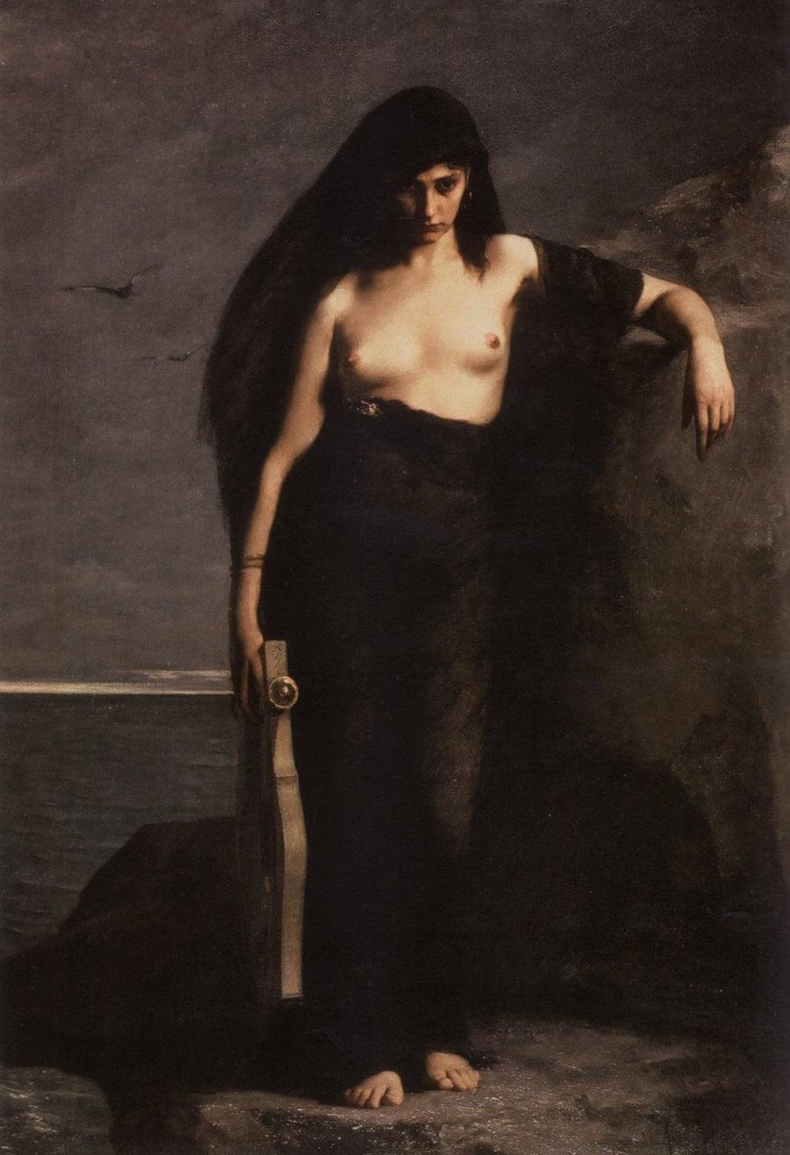 Sappho - Charles-Auguste Mengin
