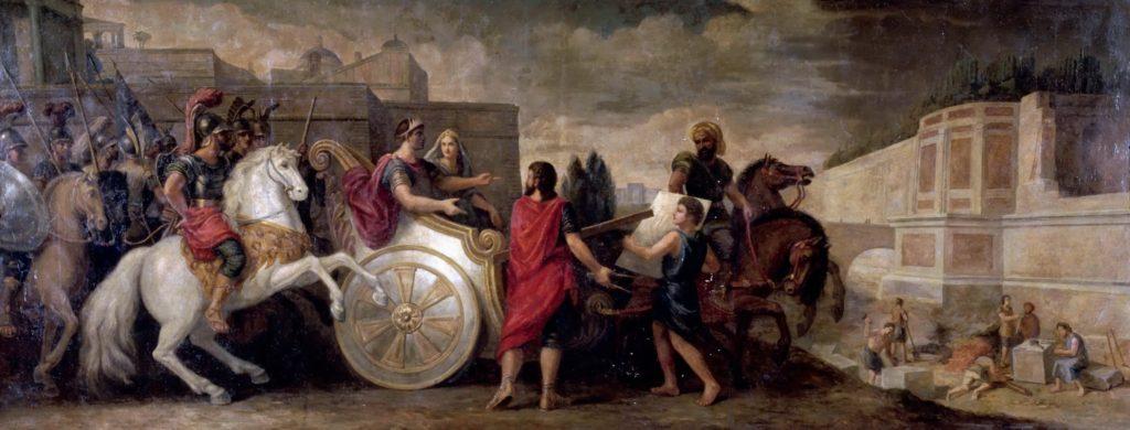René-Antoine Houasse - Nabuchodonosor et Semiramis fait élever les jardins de Babylone