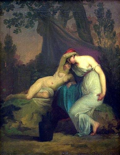 Sappho et la fille de Mytilène - Nicolai Abildgaard (Danish, 1743 - 1809)
