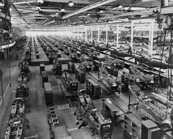 The assembly plant of the Bell Aircraft Corporation at Wheatfield, New York