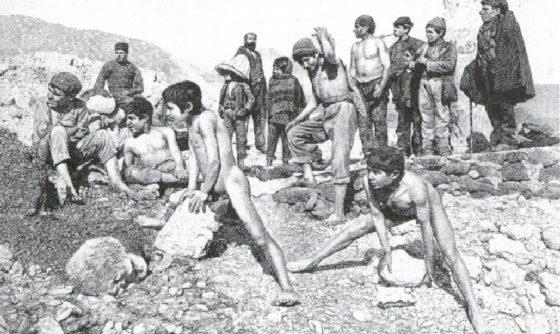 mineurs du soufre siciliens - lovisolo