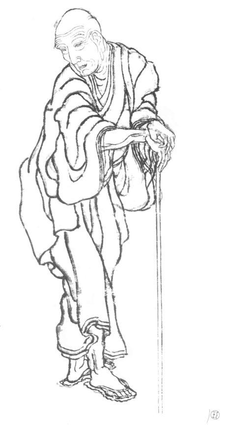Hokusai - Autoportrait