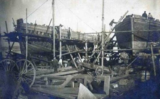 Chantier maritime du midi de la baie de Balaguier
