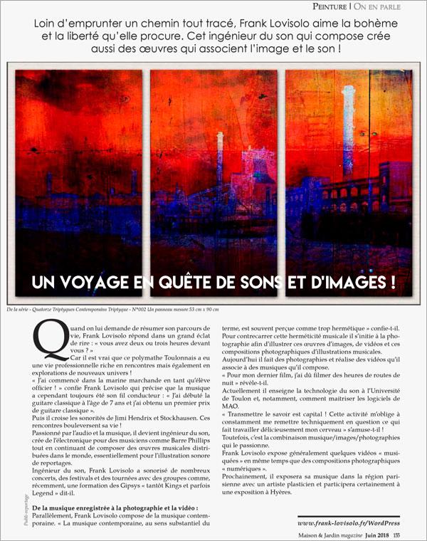 Maison & Jardin - Frank Lovisolo-Guillard - Juin 2018