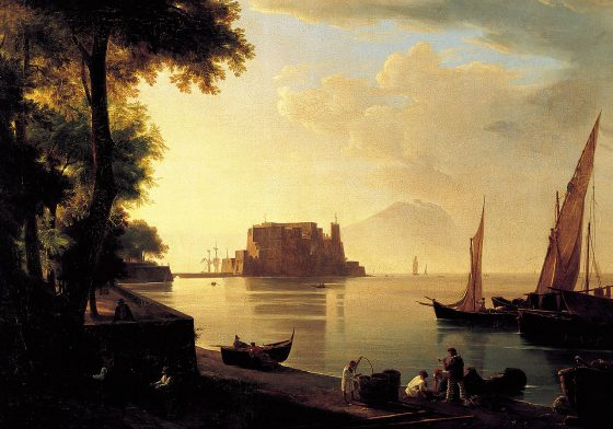 Antonie Sminck Pitloo<br/>Castel dell'Ovo, Naples (1820) - Corinne ou l'Italie