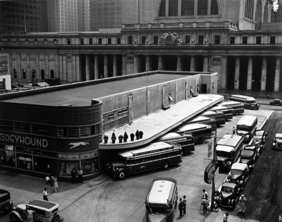 Greyhound Bus Terminal, 1936 - Berenice Abbott