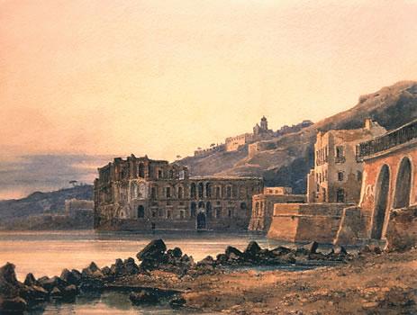 Urbain GARIN de COCCONATO-Naples, palais de la reine Jeanne, 1841 - Corinne ou l'Italie