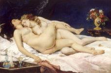 Gustave Courbet - Le sommeil - 1866 - Commanditaire : Khalil-Bey