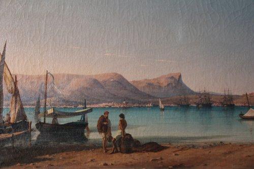Rade de Toulon vers 1830-1840 - École française du XIXe siècle - Toulon - Pleinairisme