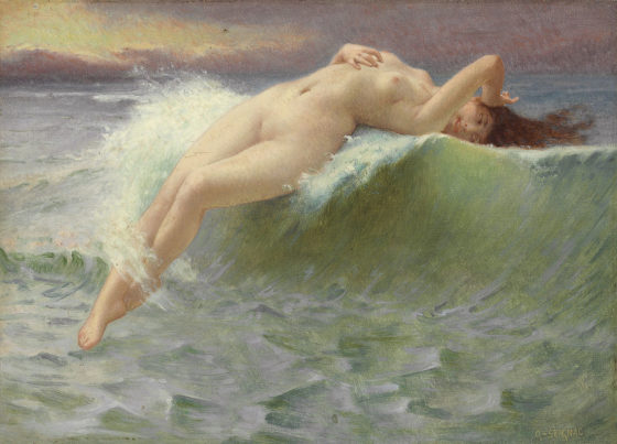 La vague de Guillaume Seignac, vers 1908.