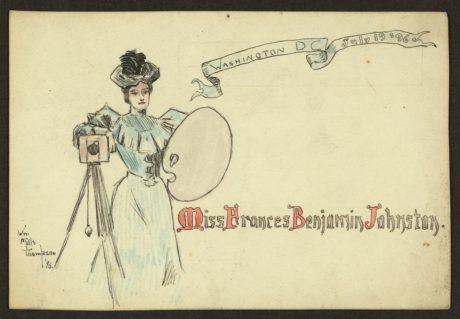 Frances Benjamin Johnston - Carte de visite vers 1890