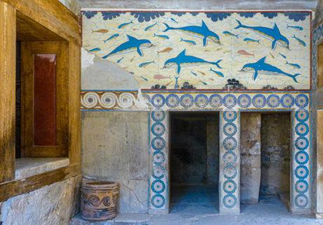 Knossos - Fresque des Dauphins.