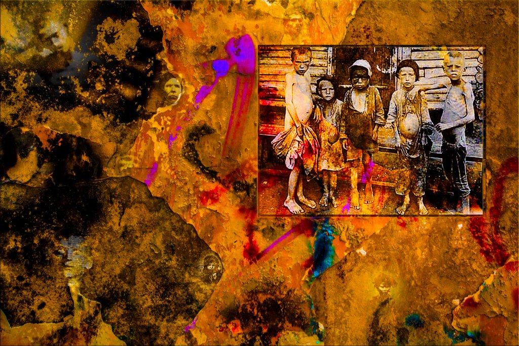 llustration créée à partir d'une photographie prise par le journaliste Gareth Richard Vaughan Jones.