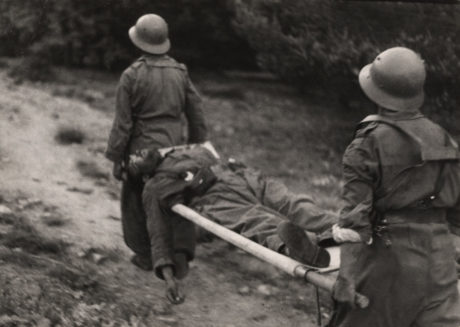 Une photographie de Taro de soldats républicains de 1937 au col Navacerrada en Espagne
