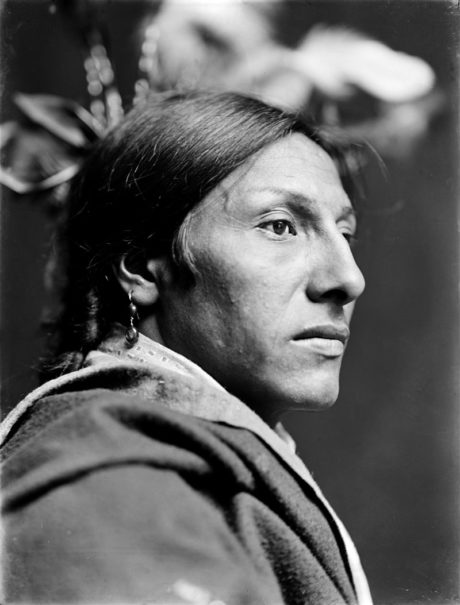 Amos Two Bulls, indien Sioux du Dakota dans le Buffalo Bill's Wild West Show (1900)