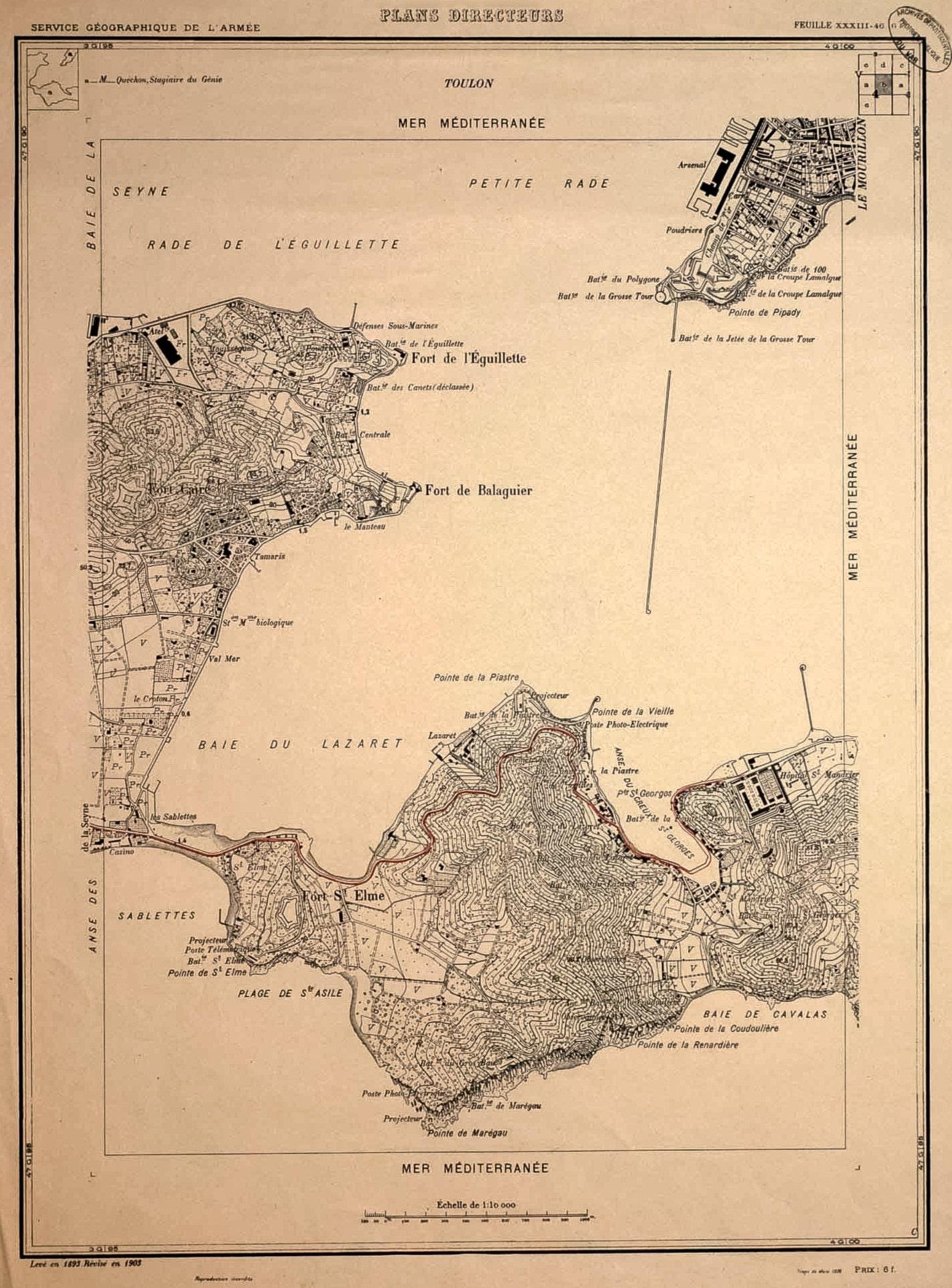 Baie du Lazaret Carte 1903