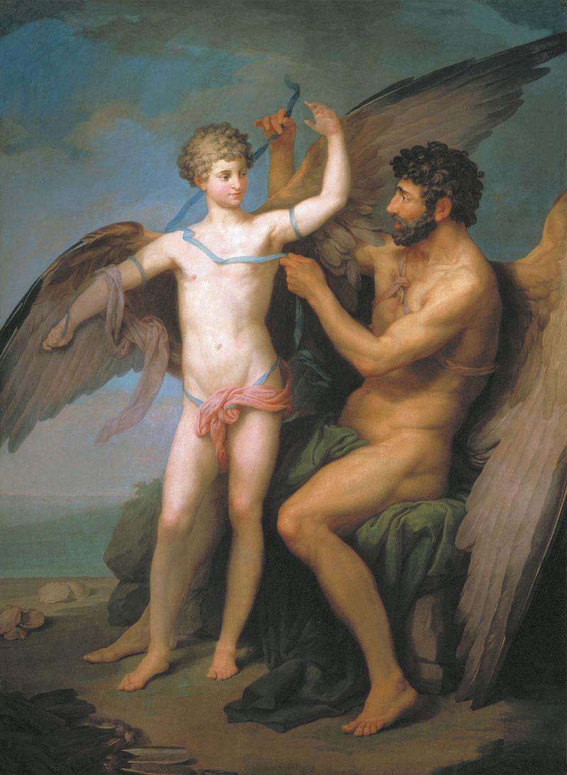 Dédale et Icare, par Pyotr Ivanovich Sokolov, 1749.
