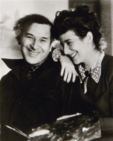 lotte jacobi : marc-chagall-and-daughter-idav