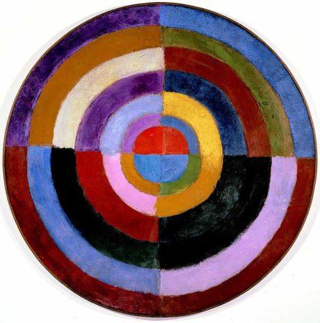 Robert Delaunay. Le Premier Disque , 1912-1913, huile sur toile circulaire.