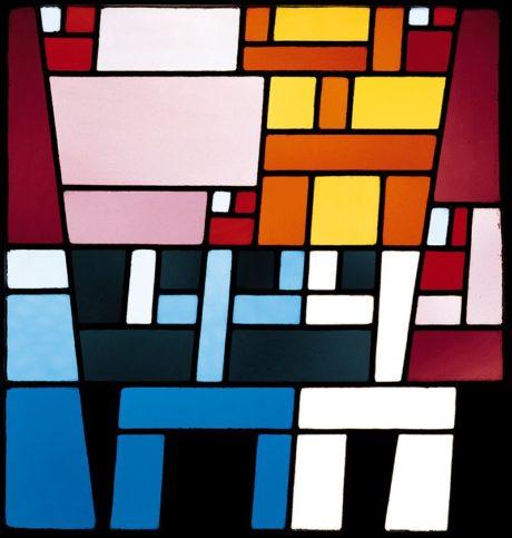 Composition abstraite , vitrail de Sophie Taeuber-Arp, 1926-1927
