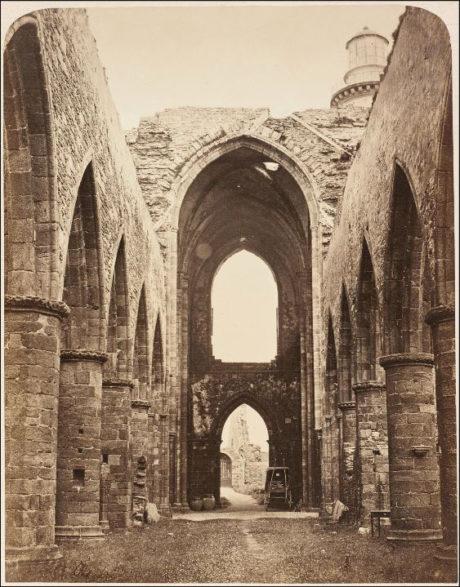 Geneviève Élisabeth Disdéri - Intérieur de l'Abbaye de Saint-Mathieu - 1856