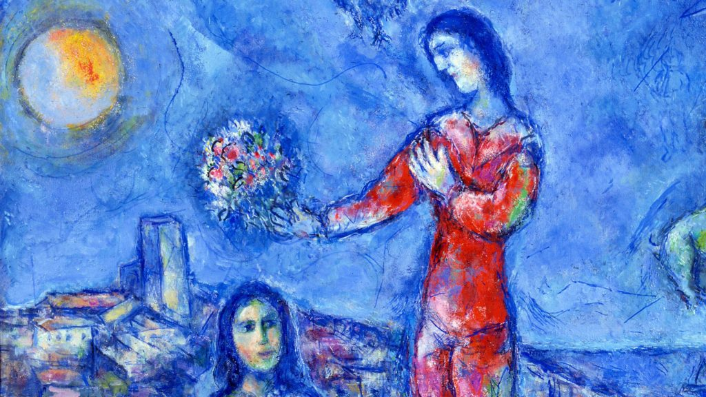 Marc Chagall Couple dans le paysage bleu