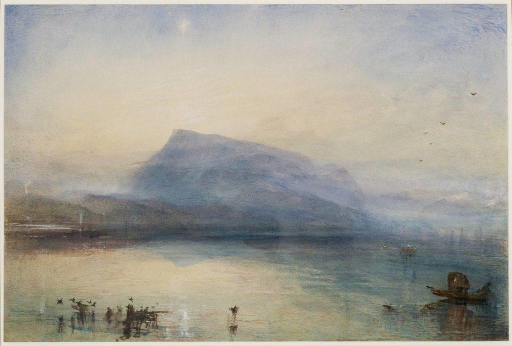 Joseph Mallord William Turner — The Blue Rigi, Sunrise 1842.