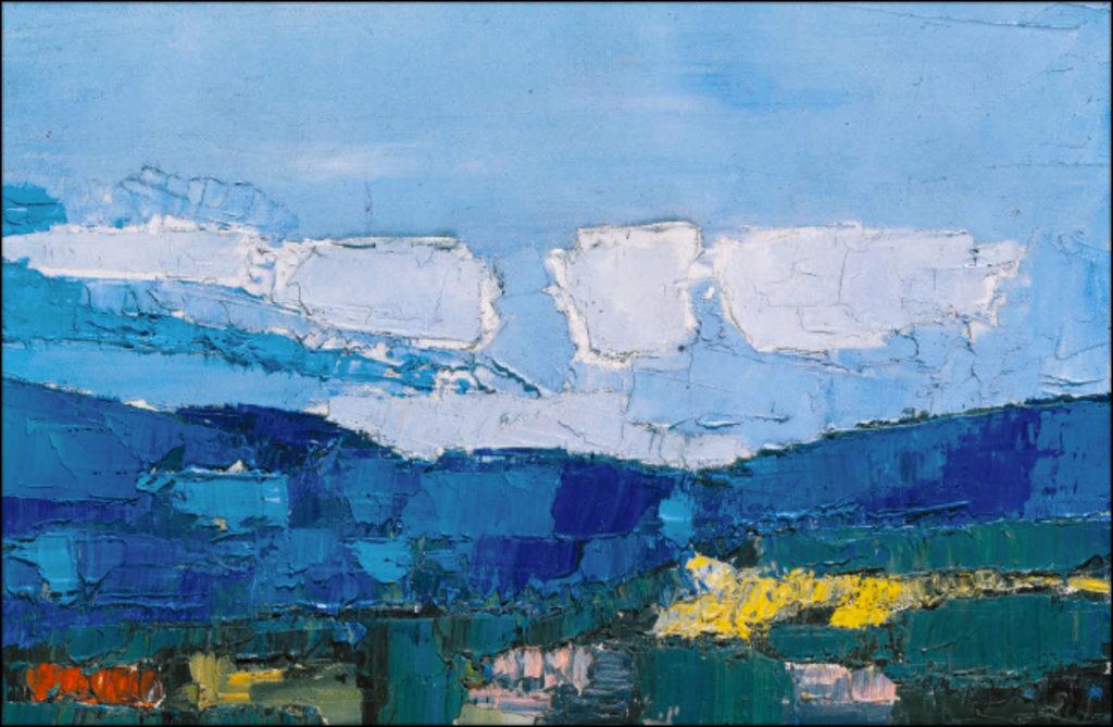 Nicolas de STAËL Paysage, 1954 Huile sur toile, 54 x 81 cm  Collection particulière