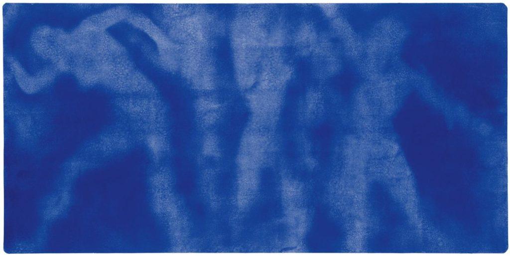 Hiroshima- Pigment pur et résine synthétique sur papier marouflé sur panneau 139.5 x 280.5 cm The Menil Collection, Houston, États-Unis © Succession Yves Klein c/o ADAGP, Paris