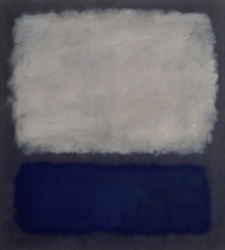 rothko focus blue and grey