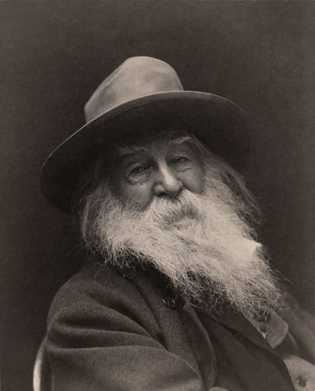 American poet Walt Whitman. This image was made in 1887 in New York, by photographer George C. Cox.