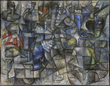 Carlo Carrà - Rythmes des objets - 1911- Moteur