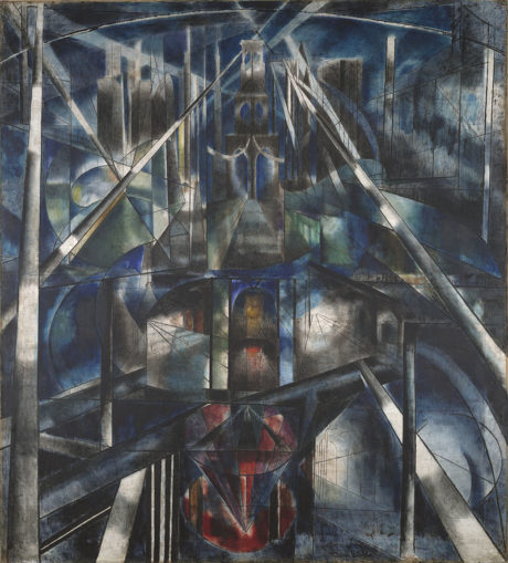 Joseph Stella, Brooklyn Bridge (1919-1920), huile sur toile (215,3 × 194,6 cm), Yale University Art Gallery.
