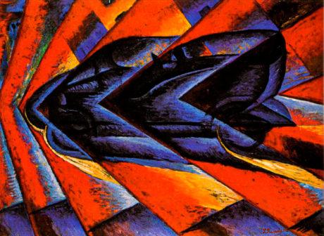Luigi Russolo - Dynamisme d'une automobile -1913 - Moteur