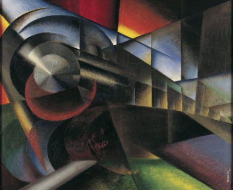 Train rapide (détail), Ivo Pannaggi, 1922