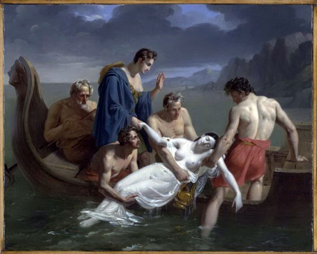 La mort de Sappho 1819 Pierre Antoine Augustin Vafflard