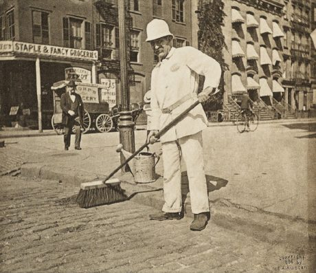 E. Alice Austen, Street Sweeper, 1896.