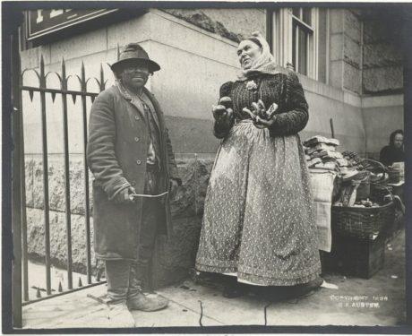 E. Alice Austen, Pretzel vendor and Emigrant, 1896.