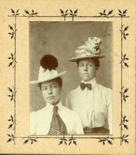 Pickard's Penny Photo Studio, Alice Austen & Gertrude Tate - 1905.