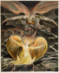 Le grand dragon rouge et une femme vêtue de soleil (1805) William Blake