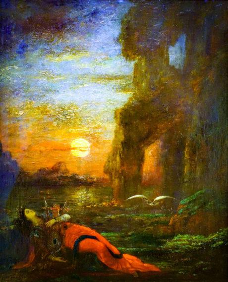 La mort de Sappho - Gustave Moreau - 1872