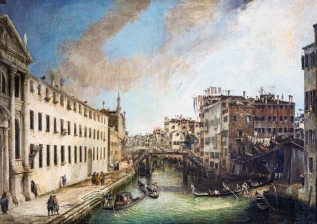 Perspective - Il rio dei Mendicati - Canaletto